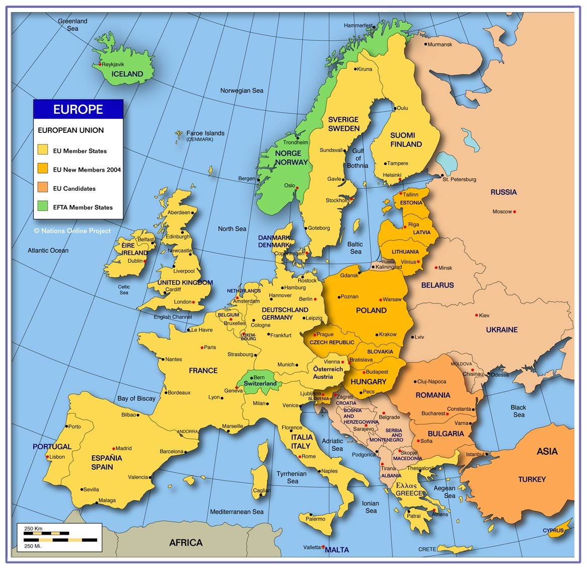 The European Union: links of interests, quizzes and ...